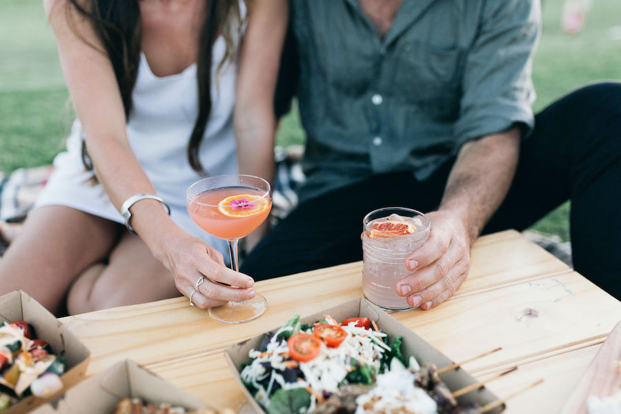 Enjoy lunch and gin and run cocktails